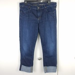 Citizens of Humanity Dani cropped dark wash jeans
